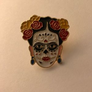 Day of the Dead Frida Brooch